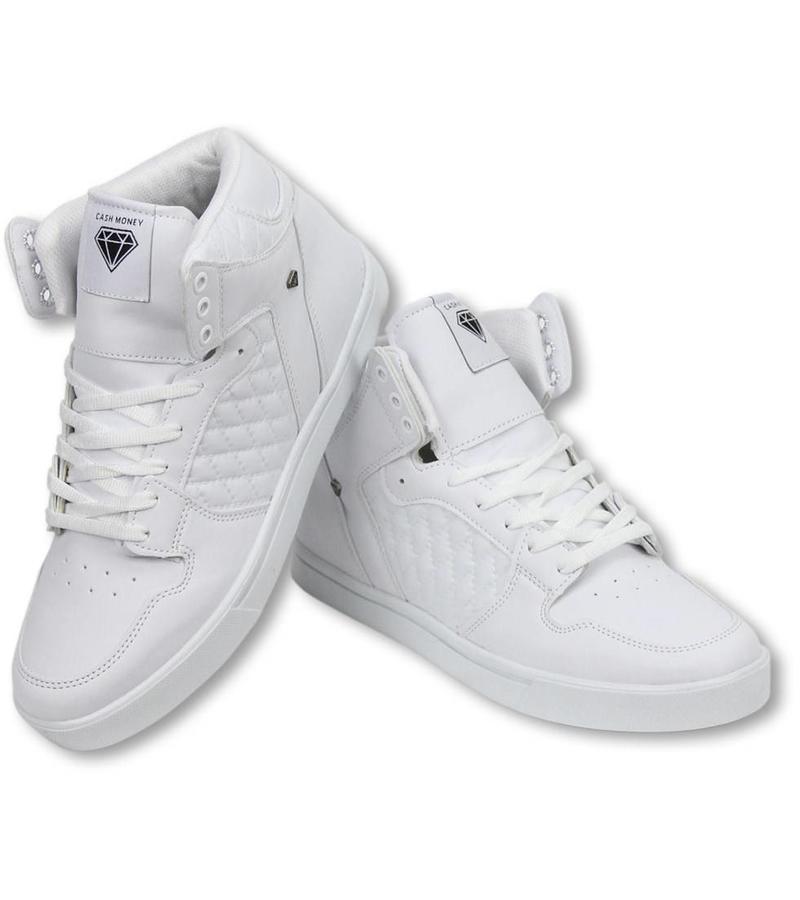 Cash Money Fina Skor Herr - Herr Sneakers High - Jailor White Matt