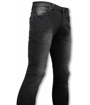 Hard Soda Denim Snygga jeans för killar - Svarta skinny jeans herr - OMG1303 - Svart