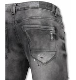 Urban Rags Slitna jeans men - Gråa slitna jeans herr - U142-5 - Grå