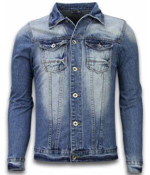 Bruno Leoni Spijkerjasje - Spijkerjasje Heren Denim Jacket - Stonewashed Look - Blauw