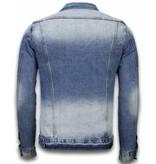 Bruno Leoni Denim Jacka Herr - Stone Wash Look Jackor - CA-506#B - Blå