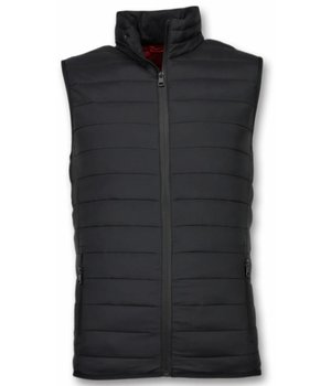 Y chromosome Mäns Kroppsvärmer - Casual Body Warmer - S-8152Z - Svart
