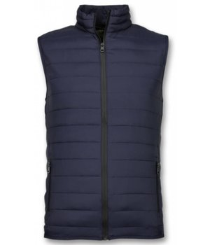 Y chromosome Kroppsvärmer Mäns - Casual Body Warmer - S-8152B - Blå