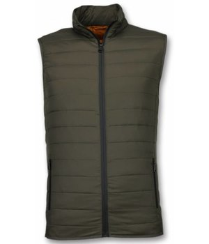 Y chromosome Kroppsvärmer Herr - Casual Body Warmer - S-8152GR - Grön