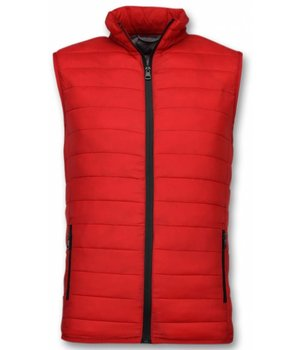 Y chromosome Herr Kroppsvärmer - Casual Body Warmer - S-8152R - Röd