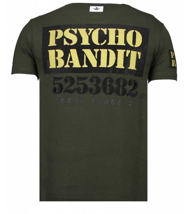 Local Fanatic Bad Dog Rhinestone - T shirt Herr - 13-6207K - Khaki