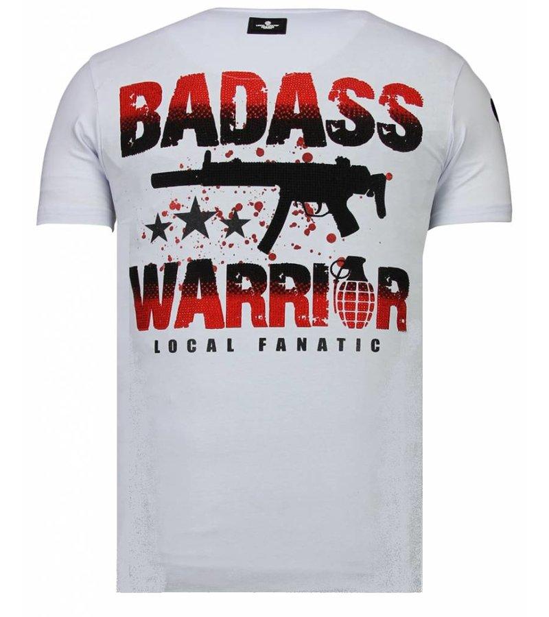 Local Fanatic Punisher Mickey Rhinestone - Man T shirt - 13-6208W - Vit