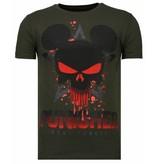Local Fanatic Punisher Mickey Rhinestone - T Shirt Herr - 13-6208K - Khaki