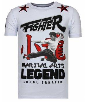 Local Fanatic Fighter Legend - Rhinestone T-shirt - Wit