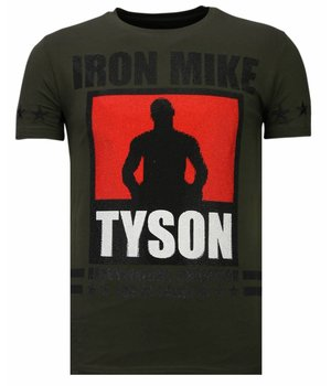 Local Fanatic Iron Mike Tyson Rhinestone - T shirt Herr - 13-6212K - Khaki