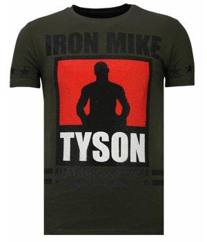 Local Fanatic Iron  Mike Tyson - Rhinestone T-shirt - Khaki