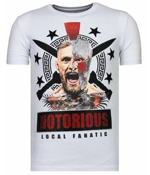Local Fanatic Notorious Warrior Rhinestone - Man T shirt - 13-6216W -Vit