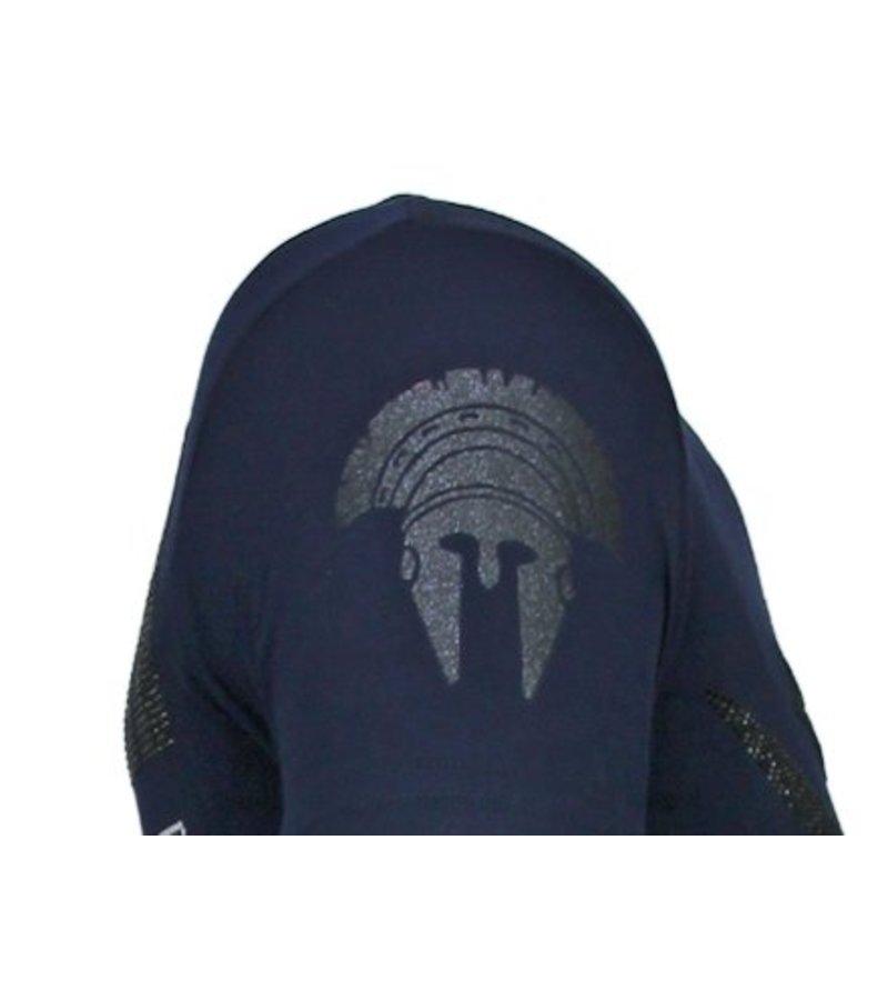 Local Fanatic Notorious Warrior Rhinestone - Herr T shirt - 13-6216N - Marinblå