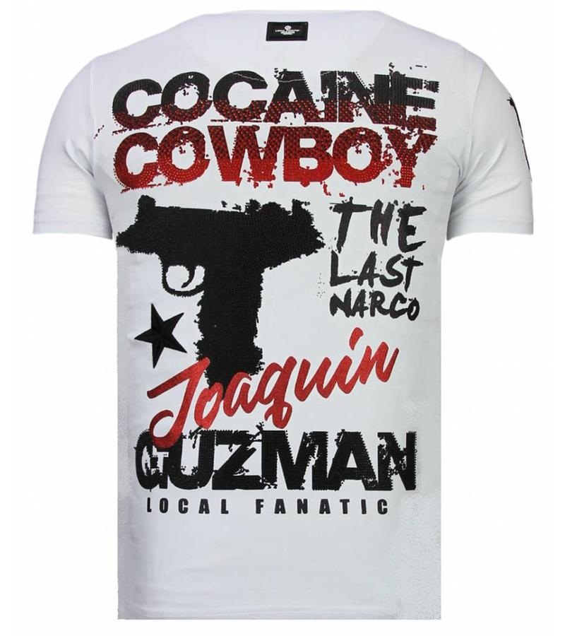 Local Fanatic Cocaine Cowboy Baron Man - T shirt - 13-6218W - Vit