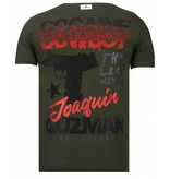 Local Fanatic Cocaine Cowboy Baron - T shirt Herr - 13-6218K - Khaki
