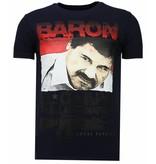Local Fanatic Cocaine Cowboy Baron - Herr T shirt - 13-6218N - Marinblå