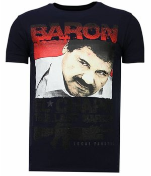Local Fanatic Cocaine Cowboy Baron - Herr T shirt - 13-6218N - Marinblå