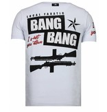 Local Fanatic Loyalty Marilyn Rhinestone - Man T shirt  - 13-6222V - Vit