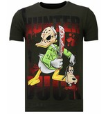 Local Fanatic Hunter Duck Rhinestone - T shirt Herr - 13-6225K - Khaki