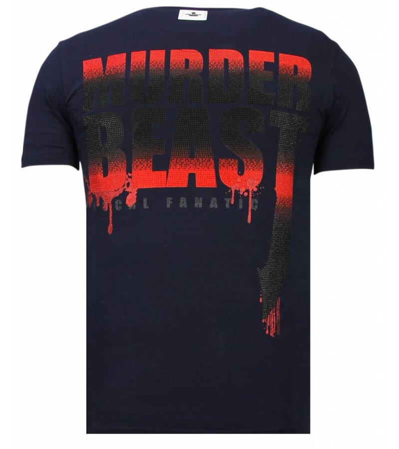 Local Fanatic Hunter Duck Rhinestone - Herr T shirt - 13-6225N - Marinblå