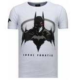 Local Fanatic Badman Rhinestone - T Shirt Herr - 13-6213W - Vit