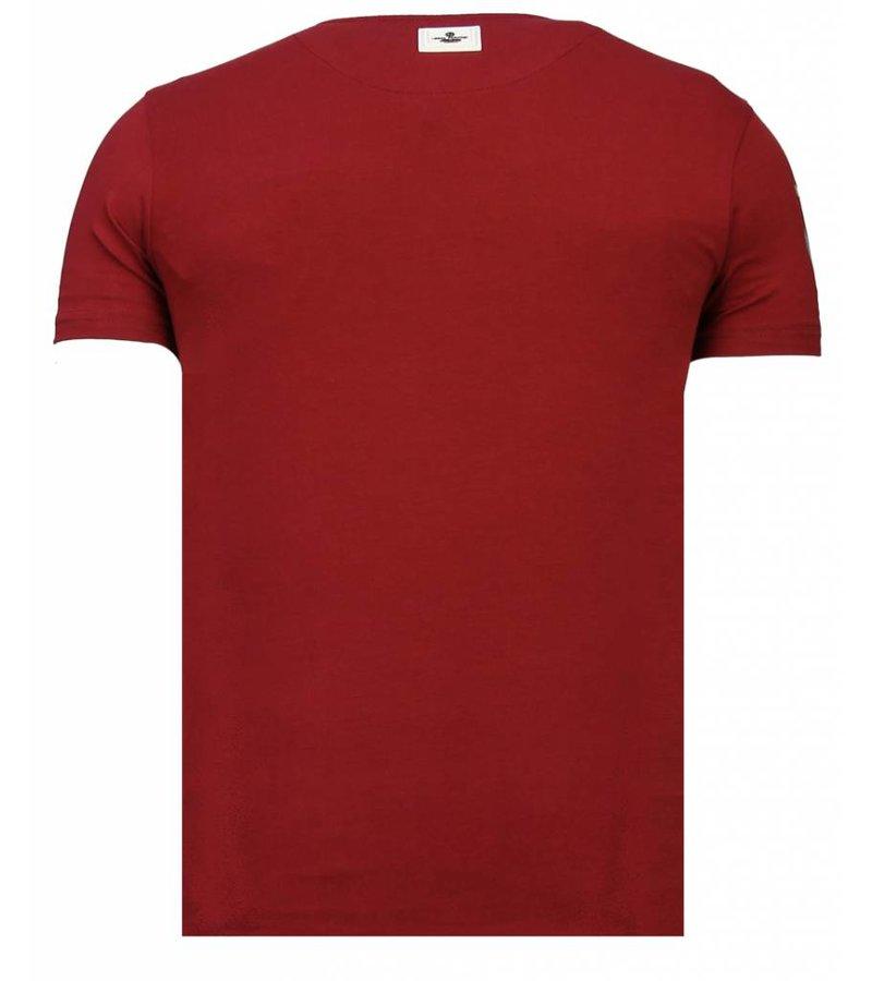 Local Fanatic Iron Man Popeye Rhinestone - T shirt Herr - 13-6214B - Bordeaux
