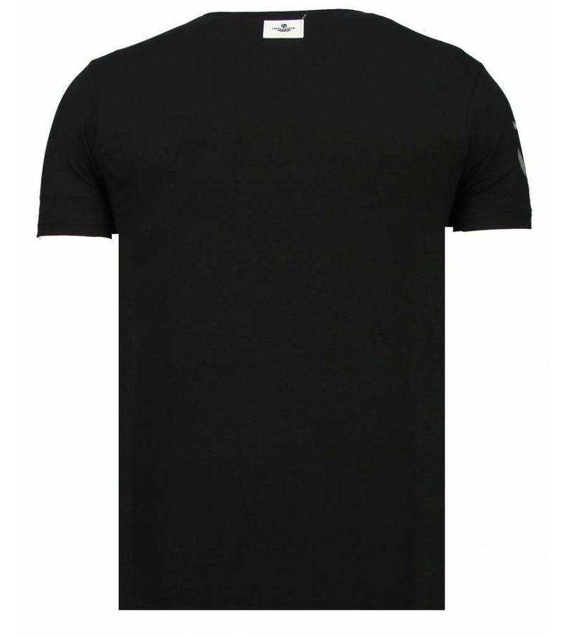 Local Fanatic Iron Man Popeye Rhinestone - Herr T shirt - 13-6214Z - Svart