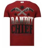 Local Fanatic Bandit Chief Rhinestone - T shirt Herr - 13-6217B - Bordeaux