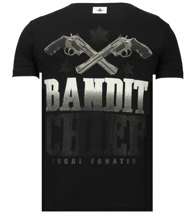 Local Fanatic Bandit Chief Rhinestone - Herr T shirt - 13-6217Z - Svart