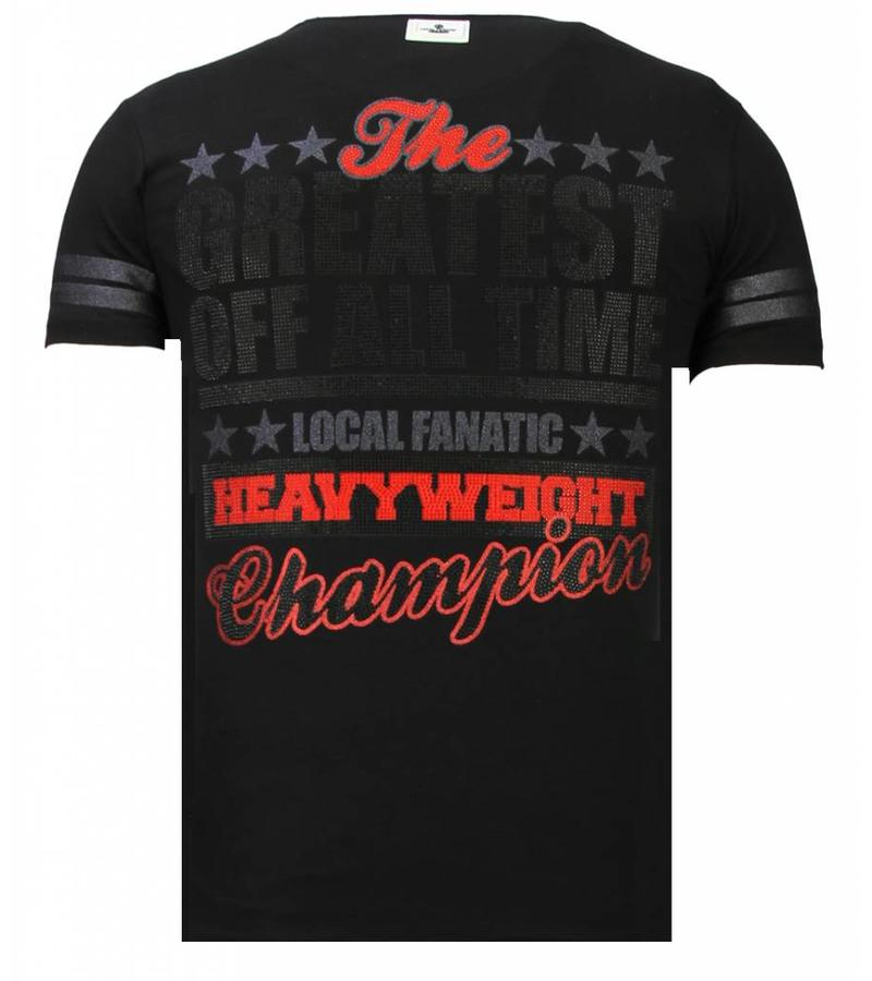 Local Fanatic Greatest Of All Time Ali - Herr T shirt - 13-6215Z - Svart
