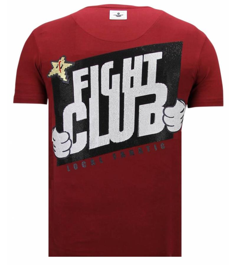 Local Fanatic Fight Club Mario Bros - T shirt Herr - 13-6219B - Bordeaux