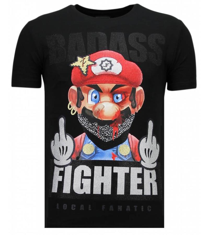 Local Fanatic Fight Club Mario Bros - Herr T shirt - 13-6219Z - Svart