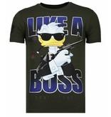 Local Fanatic Like A Boss Duck - T shirt Herr - 13-6220K -  Khaki