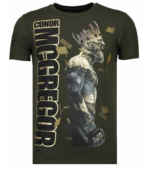 Local Fanatic Notorious King Conor Mcgregor - T Shirt Herr - 13-6221K - Khaki