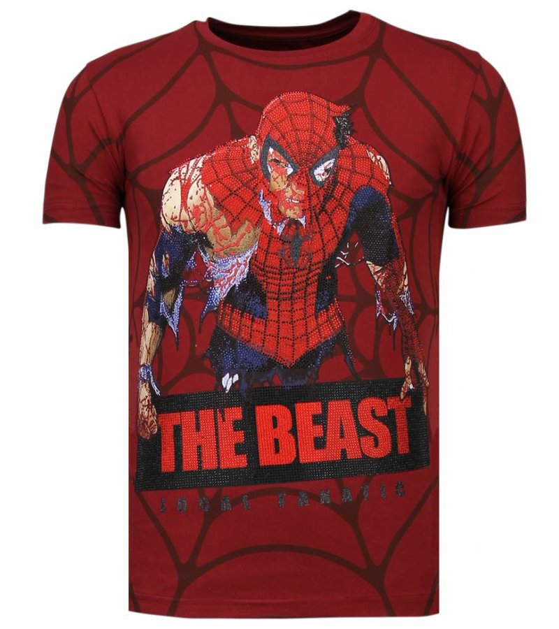 Local Fanatic The Beast Spider Man - T shirt Herr - 13-6228B - Bordeaux