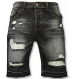 Enos Snygga shorts killar - Svarta cargo shorts - J-999Z - Svart