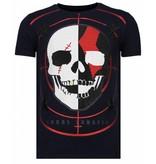 Local Fanatic God Of War Rhinestone - Herr T shirt - 13-6231N - Marinblå