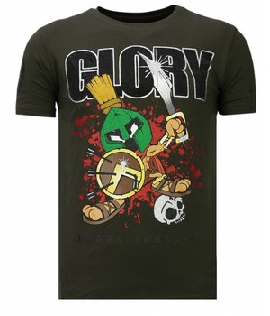 Local Fanatic Glory Martial  Rhinestone - T shirt Herr - 13-6232K - Khaki
