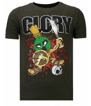 Local Fanatic Glory Martial - Rhinestone T-shirt - Khaki