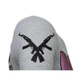 Local Fanatic Milf Hunter Rhinestone - T shirt Herr  - 13-6233N - Grå