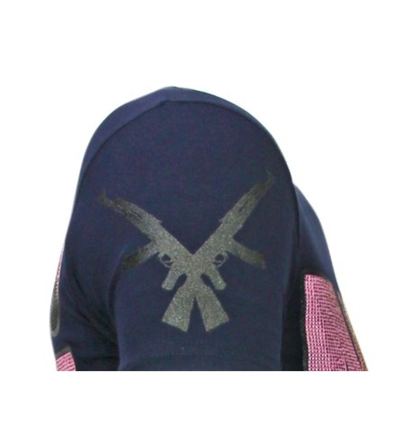 Local Fanatic Milf Hunter Rhinestone - Herr T shirt - 13-6233N - Marinblå