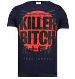 Local Fanatic Killer Bitch Rhinestone - Herr T shirt - 13-6235N - Marinblå