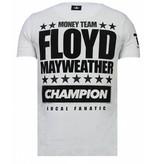 Local Fanatic Money Team Champ Rhinestone - Man T Shirt - 13-6237W - Vit