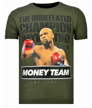 Local Fanatic Money Team Champ Rhinestone - T shirt Herr  - 13-6237K - Khaki
