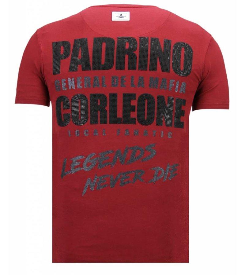 Local Fanatic The Don Skull Rhinestone - Herr T shirt - 13-6238B - Bordeaux