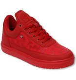 Cash Money Fina Skor Herr - Low Camouflage Side  Army Full Red