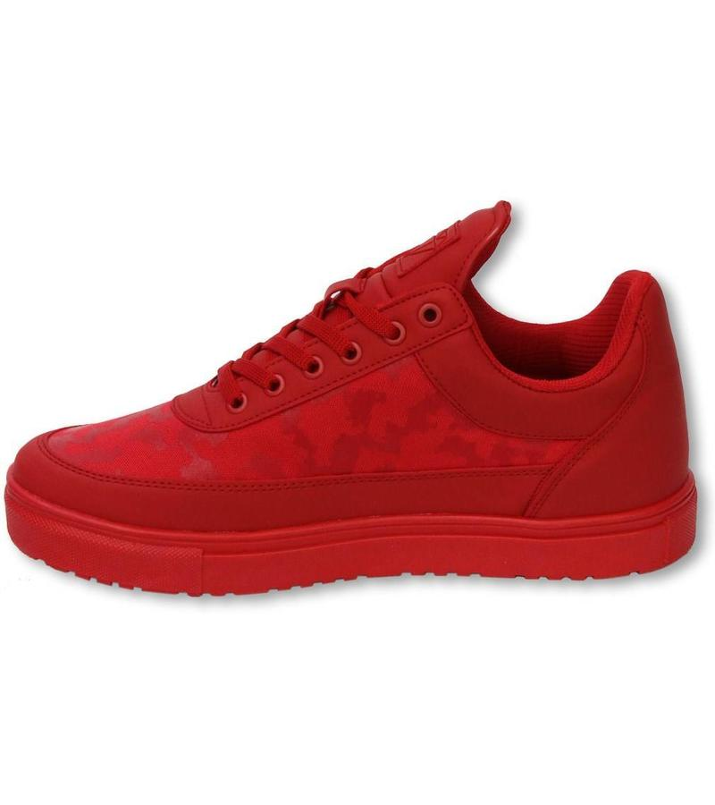 Fina Skor Herr   Low Camouflage Side Army Full Red