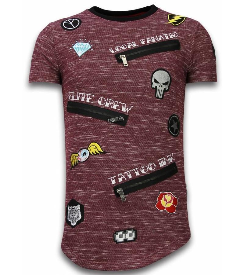 Local Fanatic  T Shirt Patches  Elite Crew - Herr tröjor - LF-102/1B - Bordeaux