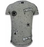 Local Fanatic  T-Shirt Patches  Rockstar - Herr tröjor - LF-103/1G - Grå