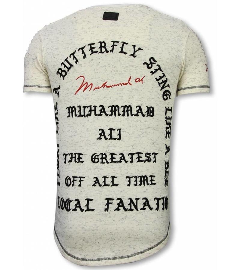 Local Fanatic I Feel Like Muhammad - Longfit T Shirt - LF-105/1B - Beige